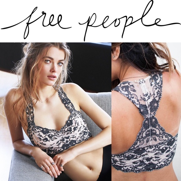 717954a5de2 NWT Free People Wild Roses Galloon Lace Bralette!